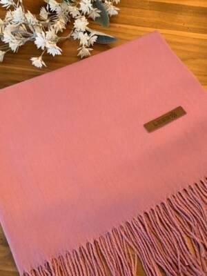 Foulard rose avec cachemire