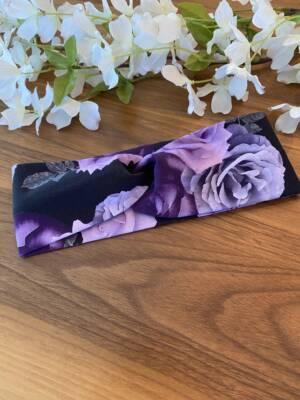 Bandeau pour femme fleur mauve