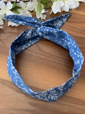 Bandeau pour femme avec broche intégré jeans et fleur