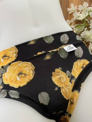 Petite culotte - fleurie jaune