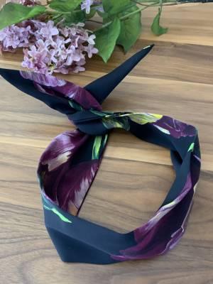 Bandeau pour femme avec broche intégré 100% soie